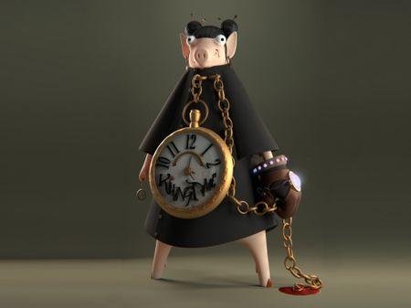 Poglet The Assassin Pig