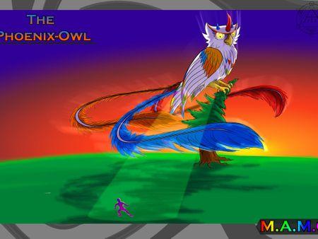 Phoenix-Owl Creature concept