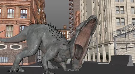 Indominus Rex lost in the city