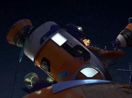 Crashed alien spaceship