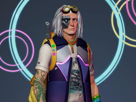 Gherio Lavinda - Stylized cyberpunk character