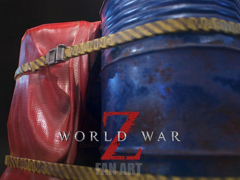 Covered Barrels - World War Z Fan Art