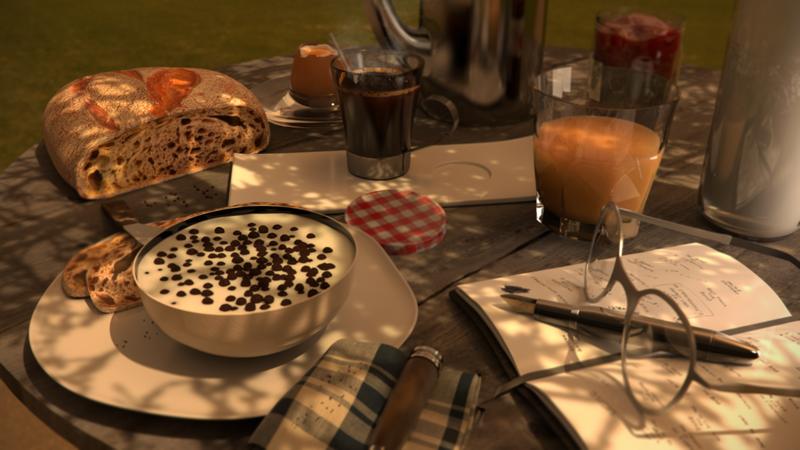 A calm, peaceful breakfast