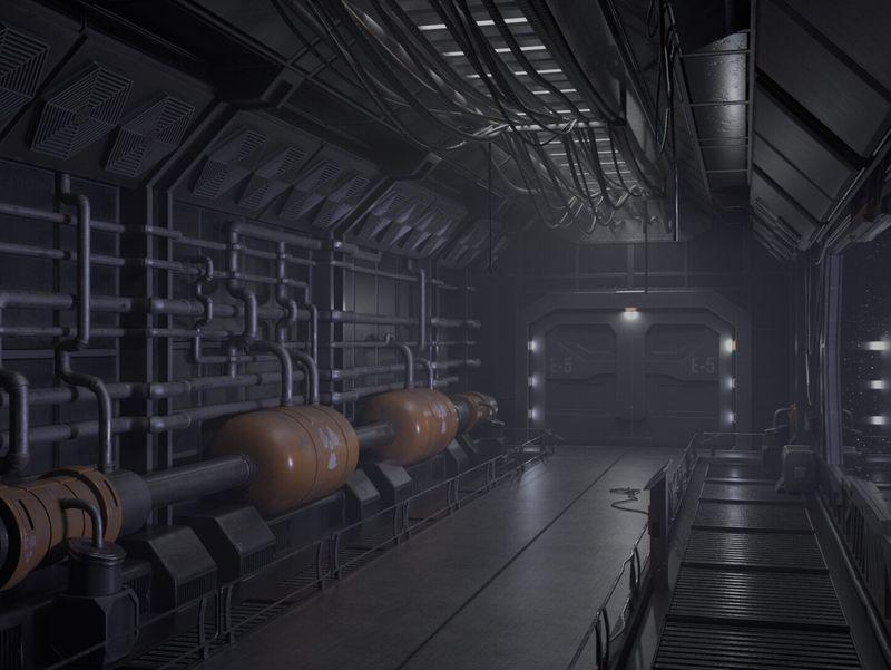 Hallway Sci Fi