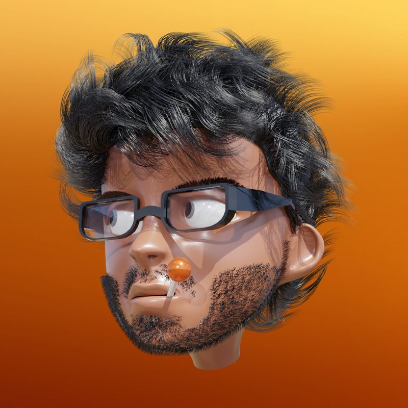 Stylized Self 3D portrait