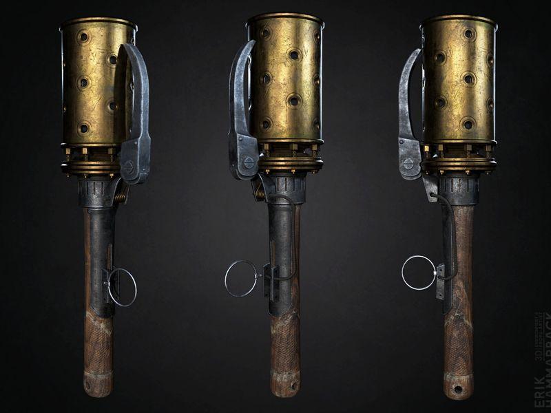 Black Gas Grenade