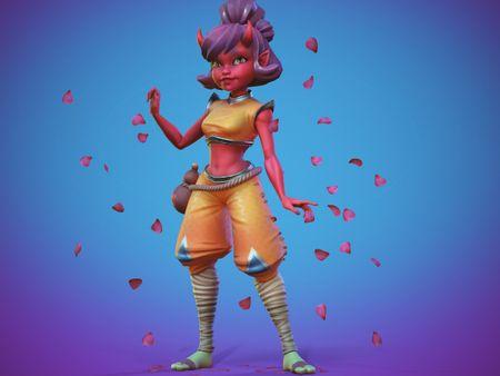 Demon Girl Game Character