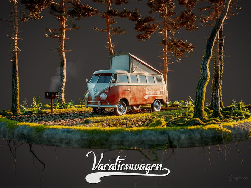 VW Vacationwagen Diorama