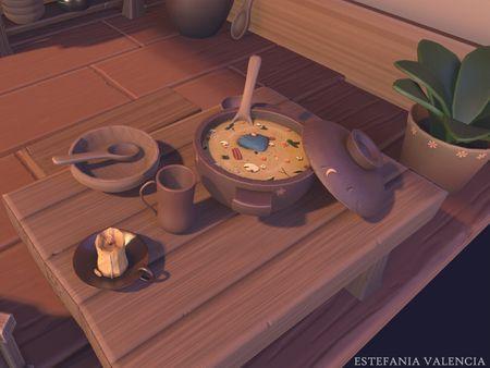 Stylized Cozy Kitchen
