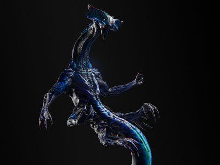 Fantastic underwater creature