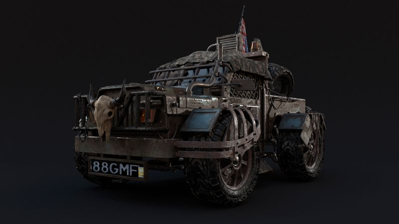Post apocalyptic vehicle