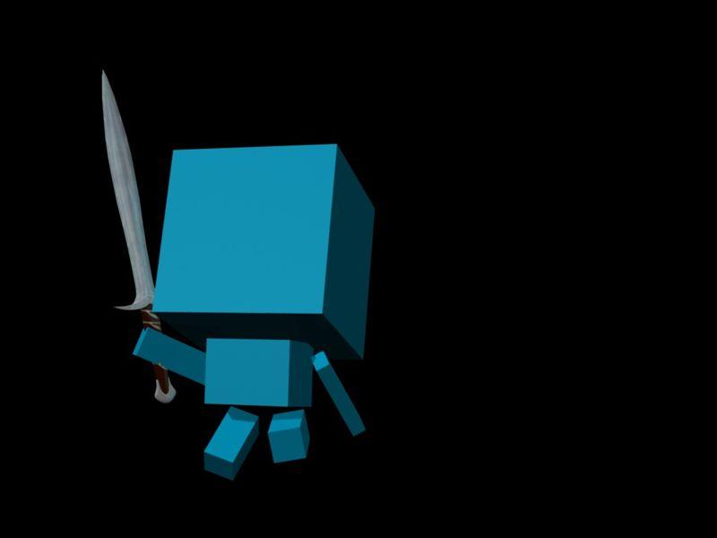 Composition + Cube Boy