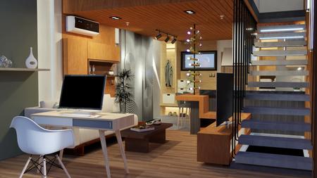 3D Interior Rendering - Loft Residential
