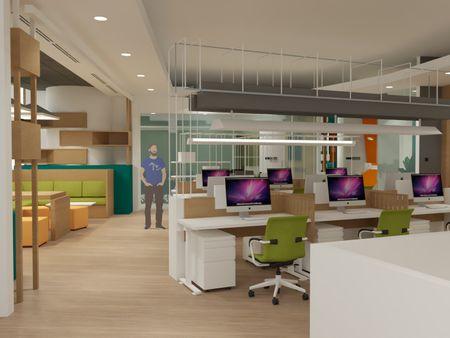 3D Interior Rendering - Office Design