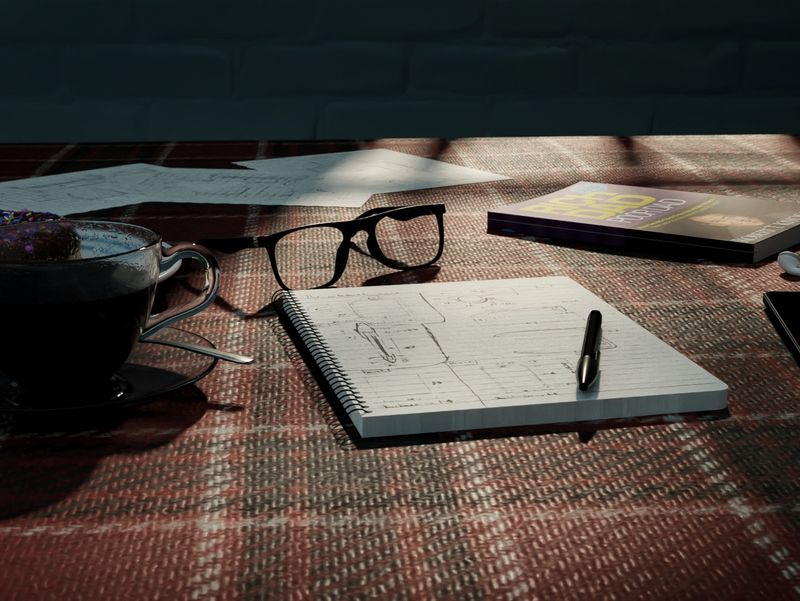 The notebook scene