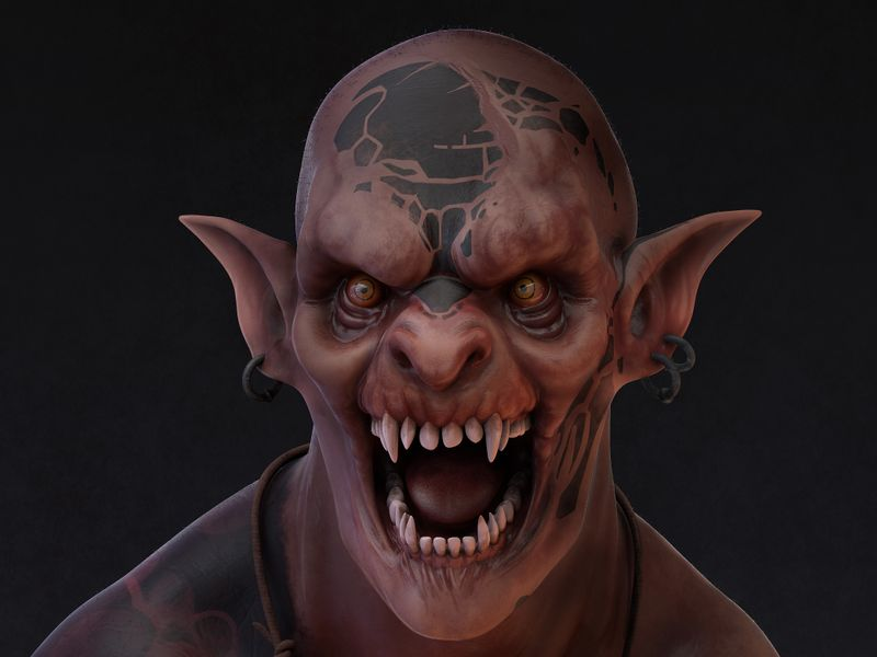 3D Orc concept