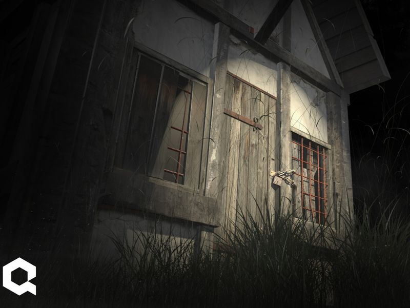 3D Environment - Haunted shelter