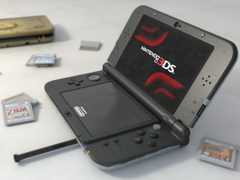 Nintendo 3DS Photorealistic Render and Compositing
