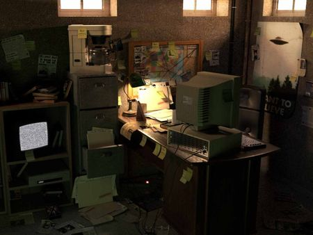 ESMA IFA - Fox Mulder basement office