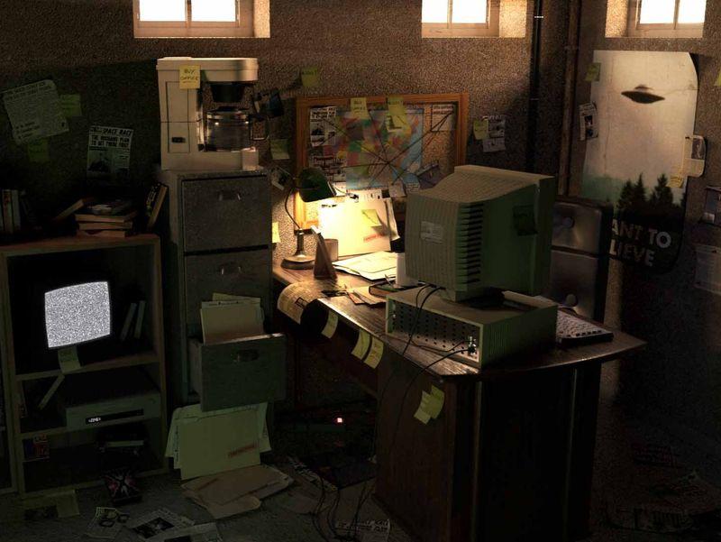 ESMA IFA - Fox Mulder basement office