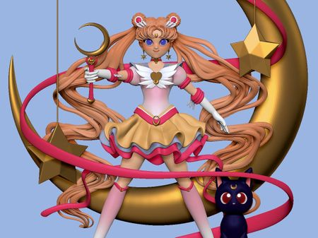 Usagi Tsukino Sailormoon Eternal Fanart