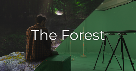 The Forest - Keying & Projections shot