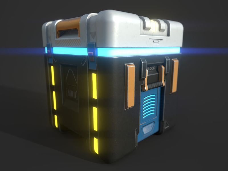 Sci-Fi Container Box / Lootbox