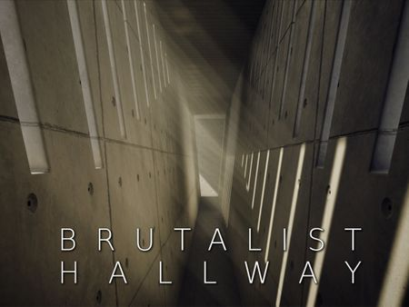Brutalist Hallway   Unreal Environment Study