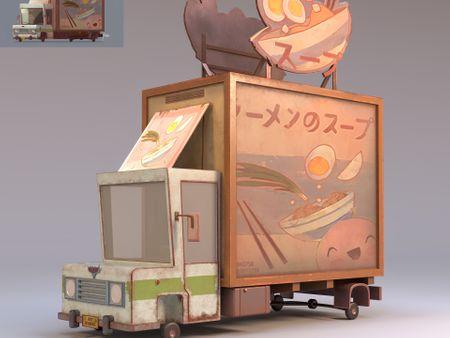 Stylized Food Car