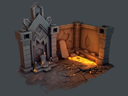 Fantastic Stylized Cat Dungeon