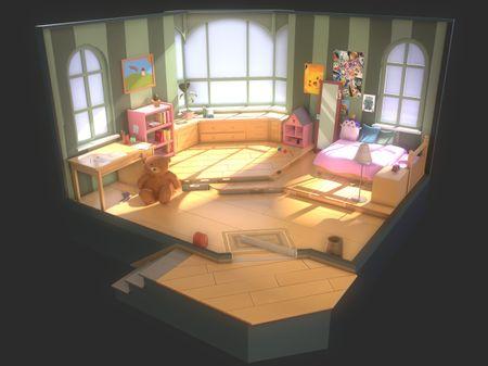 Kids Room 3D Concept Design