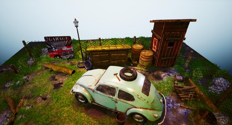 Beetle Diorama