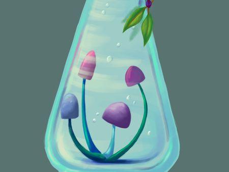 Magic bottle - Mushroom