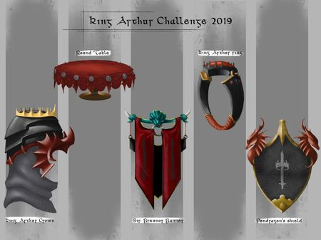 The legend of King Arthur - Artstation challenge 2019