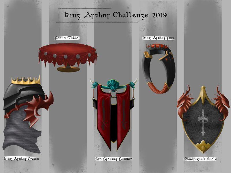 The legend of King Arthur - Artstation challenge 2019