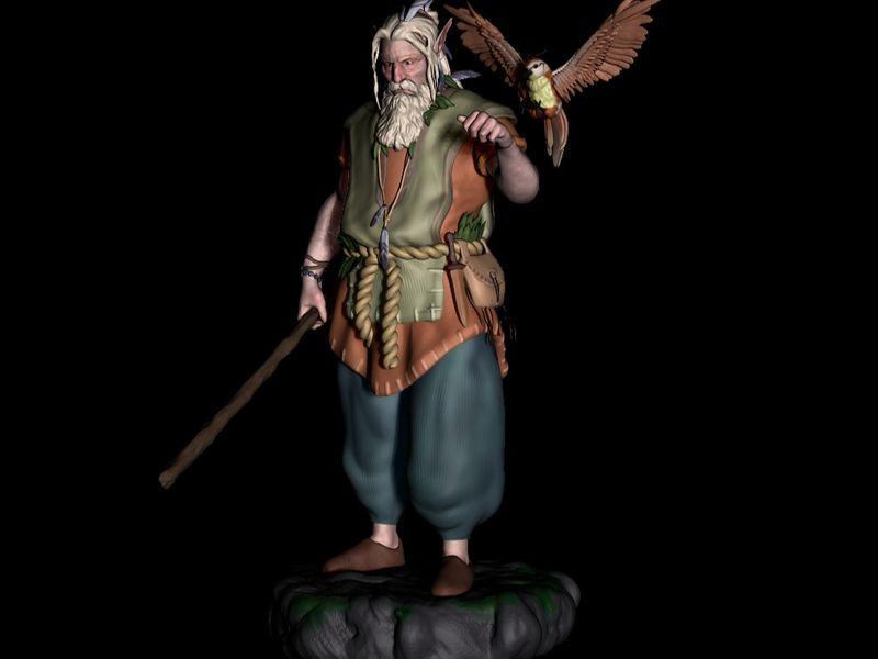 Druid Statue