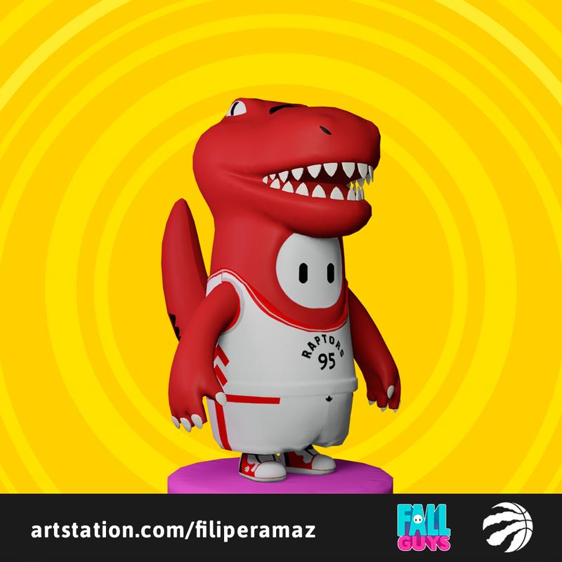 Fall Guys Toronto Raptors skin - Game Ready Fan Art