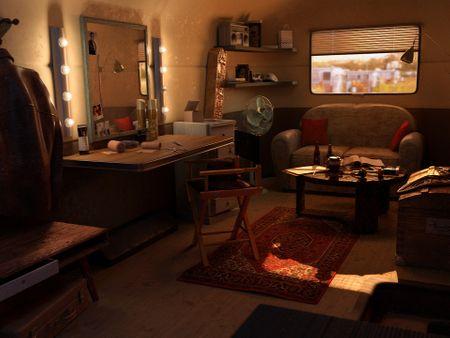 The artist's dressing room