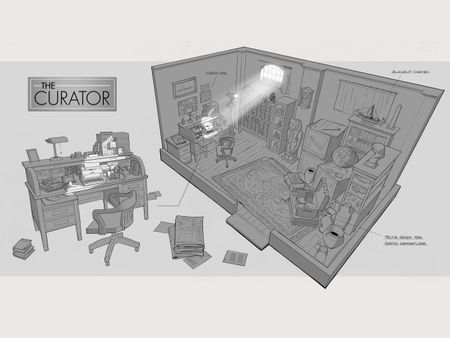 The Curators Office (interior cutaway)