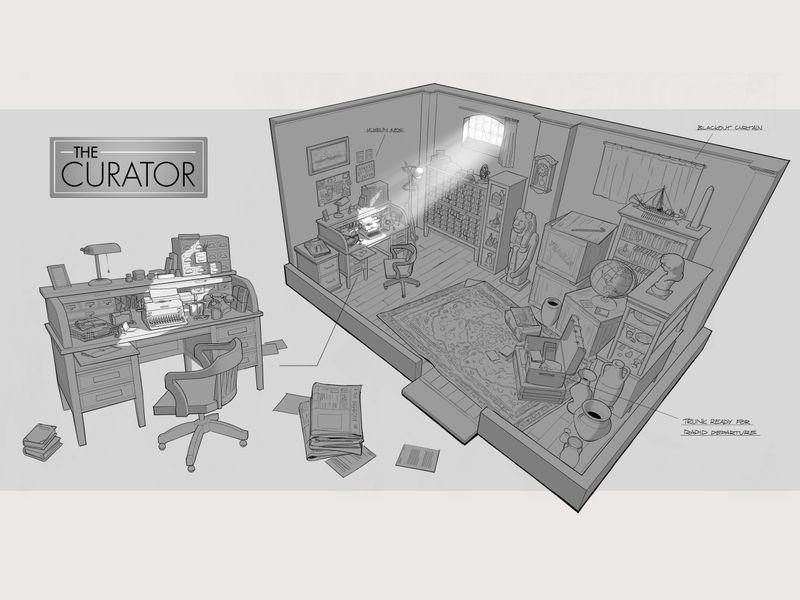 The Curators Office (interior cutaway)