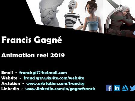 Francis Gagné - Animation reel 2019 - 2020