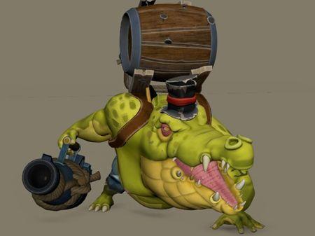 Animation for a crocodile captain