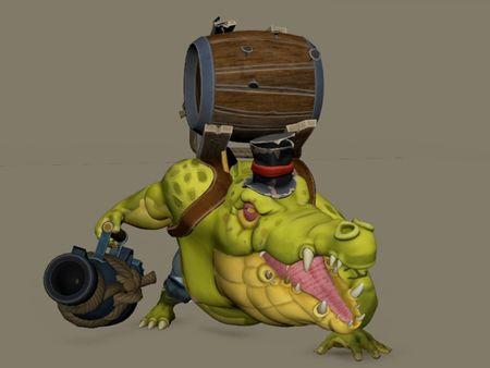 crocodile Captain Animation
