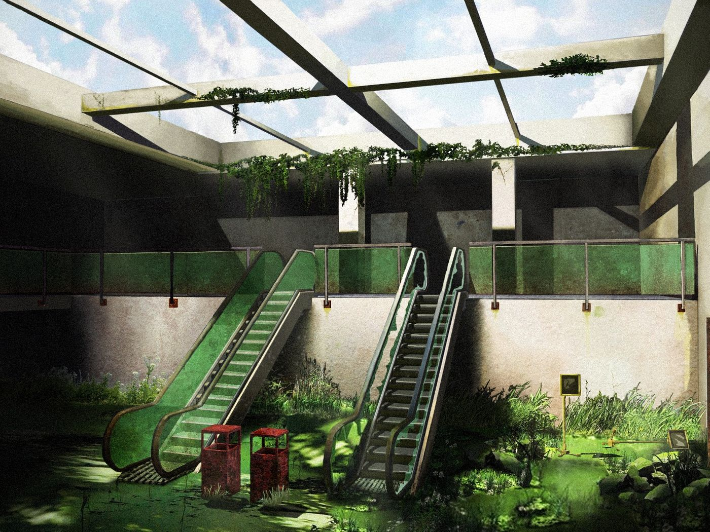 The Last Of Us inspired matte painting & more