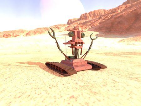 Brutalized Desert Crab Bot
