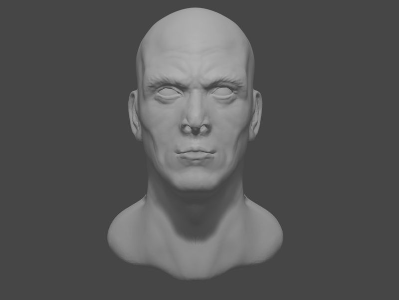 Generic male face study (: