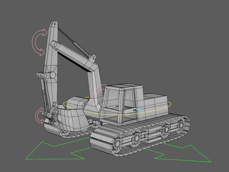 Rigging a construction tractor