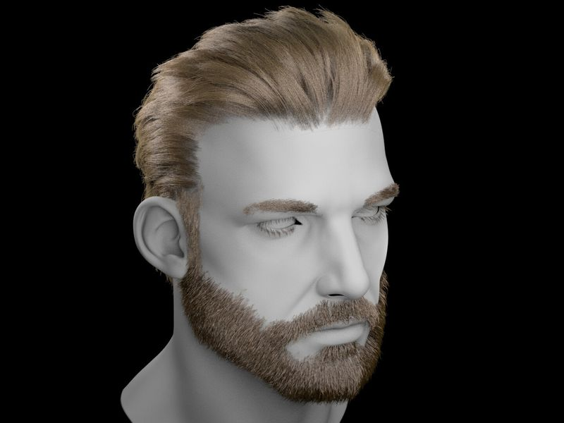 Groom - Male Hair and Beard - WIP