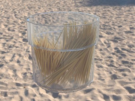 3rd day | of studying 3d max | Toothpicks (without tutorials)