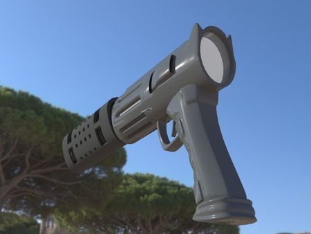 4th day | of studying 3d max | Futuristic gun (without tutorials)
